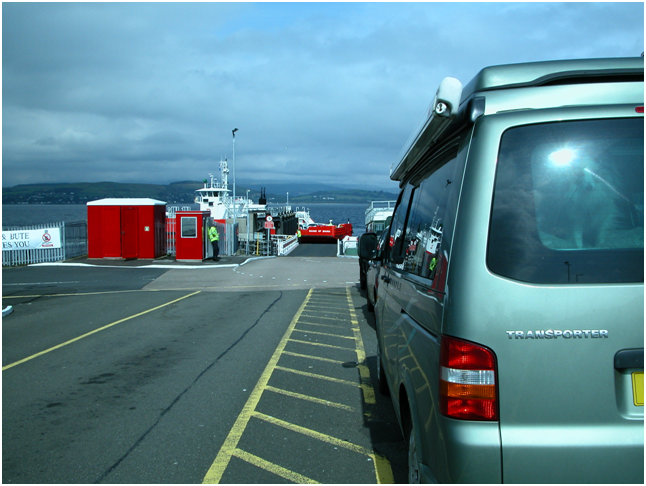 Waiting to board at Gourock. I met a lady with a Sheltie in the queue – the only other Sheltie I saw in the whole of the trip!!.png